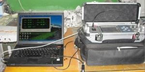 RS232 cable with PC and analyzer