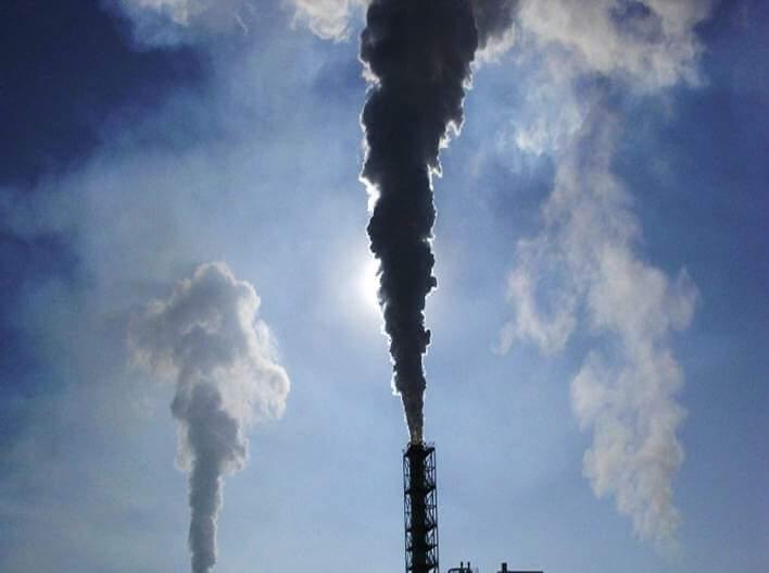 cerobong asap pabrik industri nol emisi di india