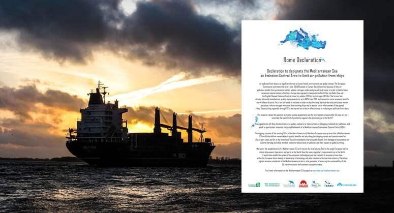 Aliansi LSM Mendeklarasikan Penetapan Area Pengendalian Emisi di Laut Mediterania