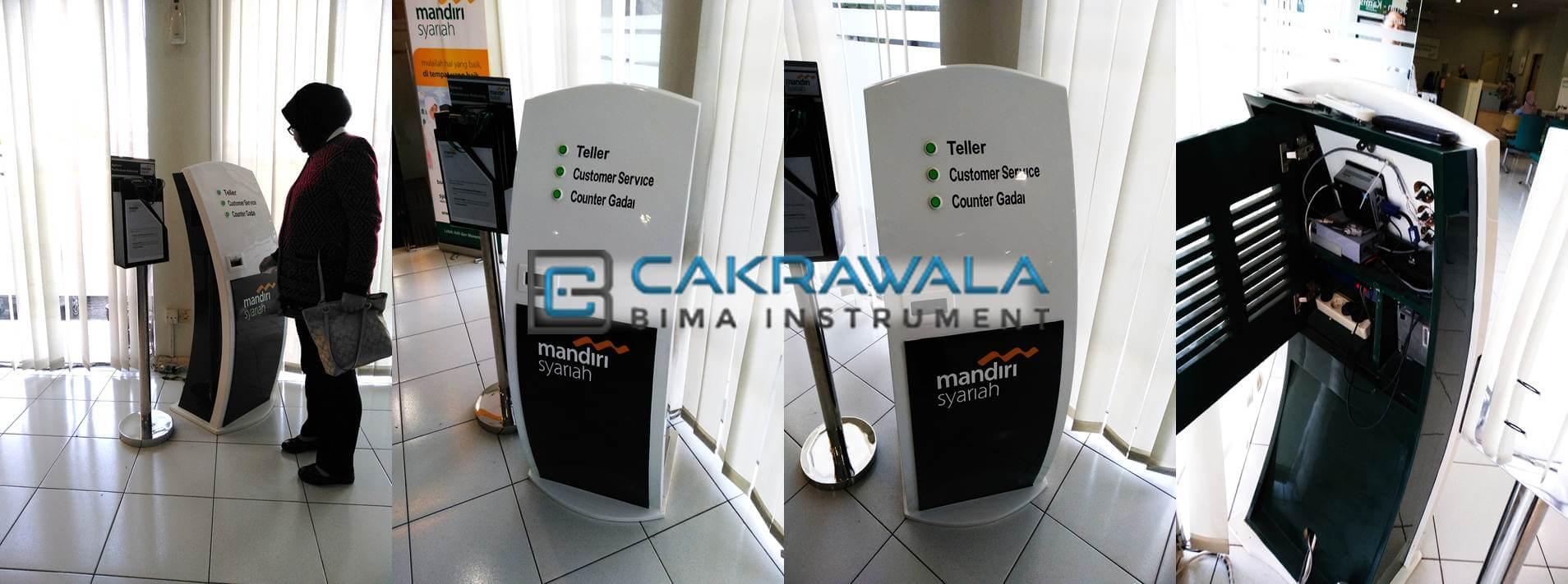 mesin antrian CQMS bank mandiri syariah by cakrawala bima instrument