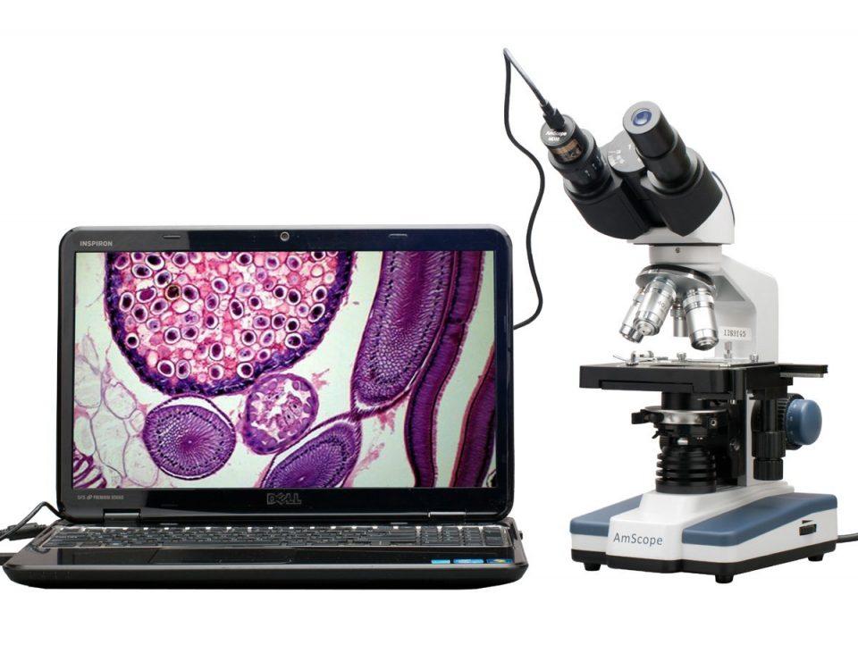 Mikroskop Senyawa Binokuler Digital LED - AmScope