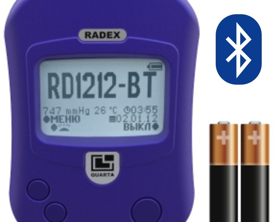 Portable Radiation Detector Bluetooth - QUARTA - RD 1212BT