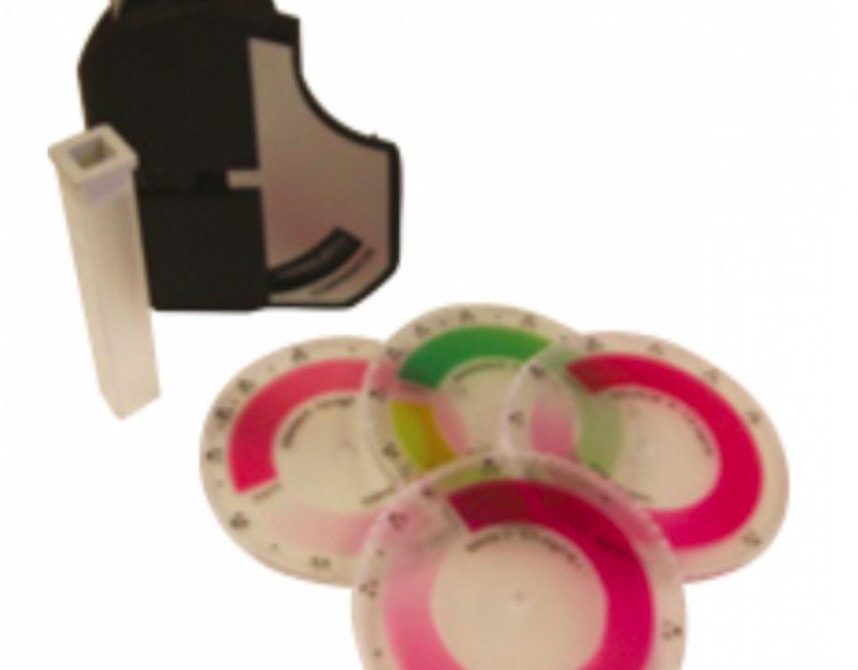 Kit Uji Kualitas Air dengan Blok Pembanding Roda