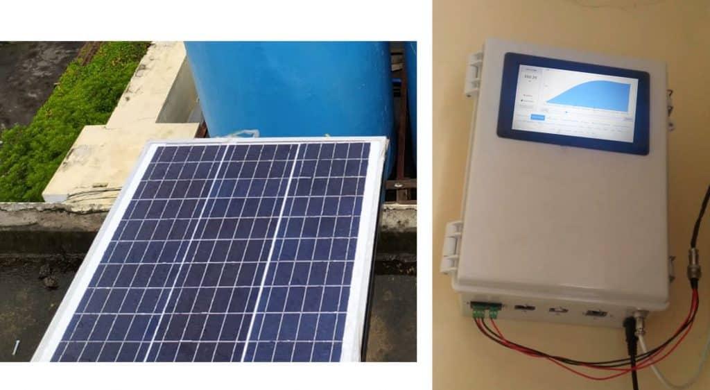 panel surya data logger aqwms pro