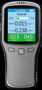 Alat Pendeteksi PM 2.5 10 TVOC HCHO Portable